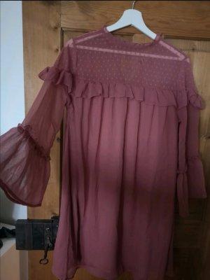 Influence Chiffon jurk framboosrood-stoffig roze