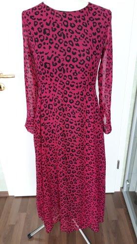 Chiffonkleid pink-schwarz Gr.38