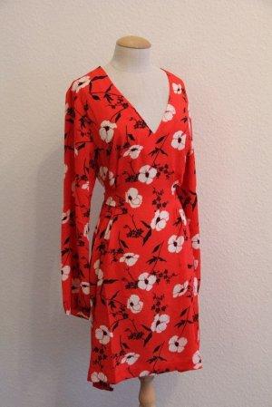Chiffon jurk rood Polyester