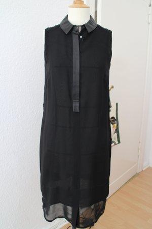 Chiffonkleid schwarz, Hemdblusenkleid, WE, Gr.M