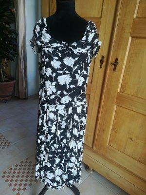 Clasen Chiffon Dress white-black