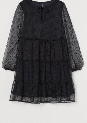 H&M Szyfonowa sukienka czarny