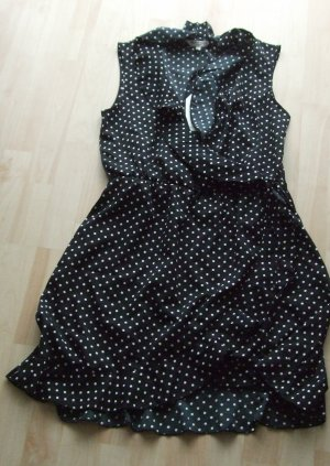 Brave Soul Chiffon Dress black-white