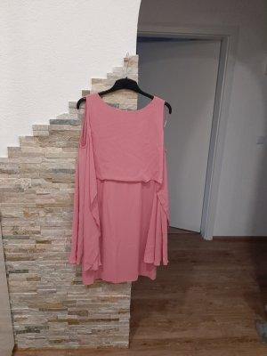 Comma Vestido de chifón rosa