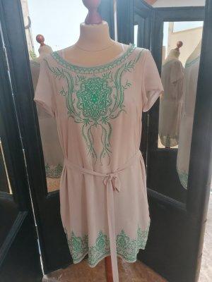 Deby Debo Chiffon Dress nude-green mixture fibre