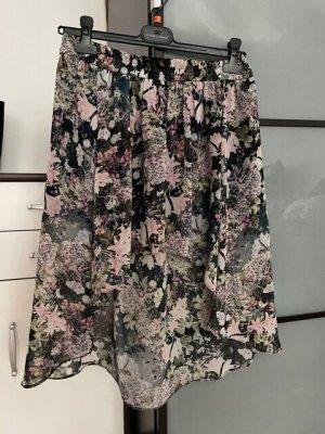 Zara Woman Asymmetrische rok grijs-donkergrijs Polyester