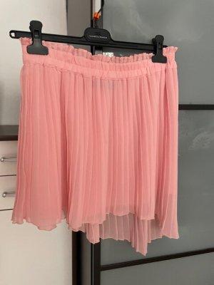 Zara Woman Gonna pieghettata rosa pallido Poliestere