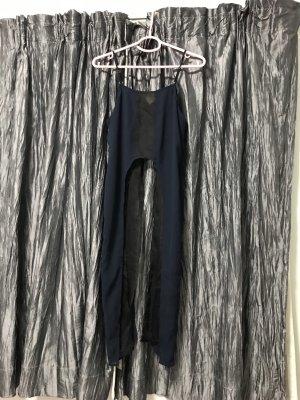 Haut à fines bretelles noir-bleu foncé