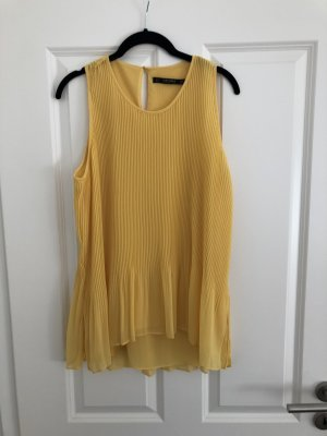 Zara Basic Top linea A giallo