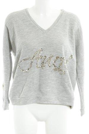 Chill Bang Bang Sweter z dekoltem w kształcie litery V szary W stylu casual