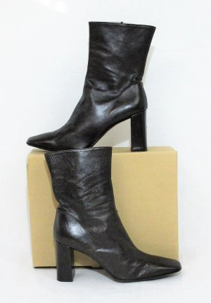 CHILLANY Leder Ankle Boots/ Lammleder / Dunkelbraun/