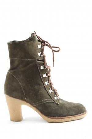 Chillany Lace-up Booties brown casual look