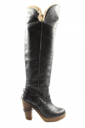 Chillany Wide Calf Boots black casual look