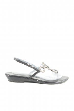 Chillany Toe-Post sandals black-silver-colored casual look