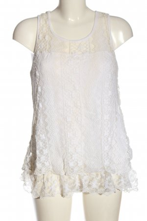Chilli Lace Top white casual look