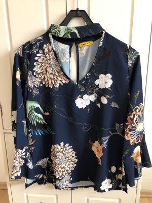 CHILLI Bluse mit Kragen und Blumenprint