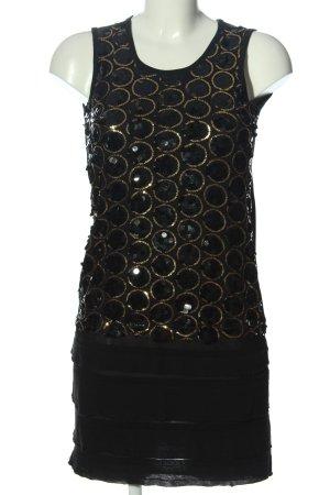 Chilli Minikleid schwarz-goldfarben Elegant