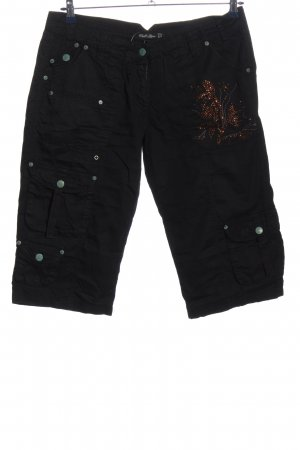 Chilli & Pepper 3/4 Length Trousers black casual look