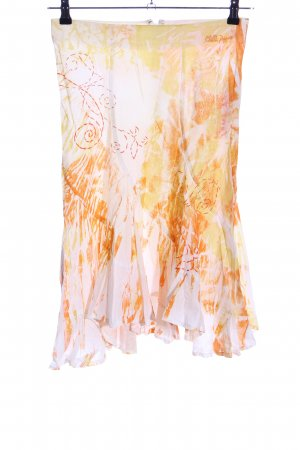 Chilli & Pepper Midi Skirt cream-light orange abstract pattern casual look