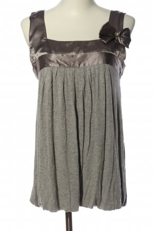 Chilli & Pepper Tie-neck Blouse light grey-brown flecked casual look