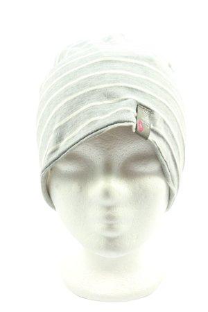 Chillouts Bonnet gris clair-blanc cassé imprimé avec thème