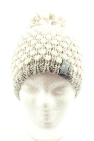 Chillouts Bonnet en crochet gris clair-blanc torsades élégant