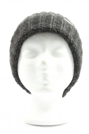 Chillouts Bobble Hat light grey cable stitch casual look