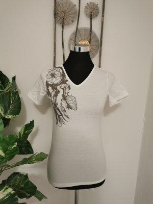 Chillytime Print Shirt white-grey cotton