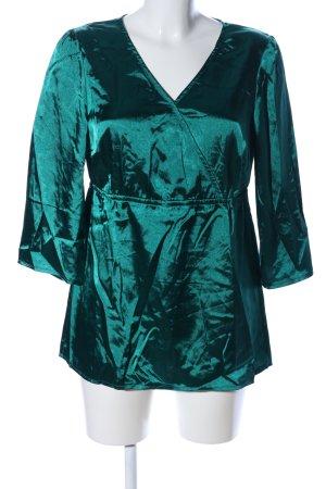 Chillytime Glanzbluse grün Elegant
