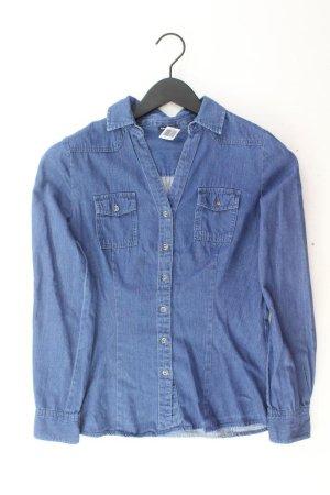 Chillytime Jeansbluse Größe 34 Langarm blau aus Baumwolle