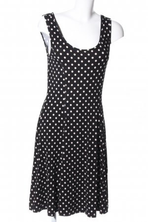 Chillytime Jersey Dress black-white allover print elegant