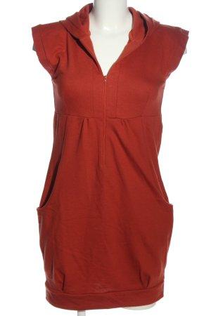 Chillytime Robe à capuche rouge style décontracté
