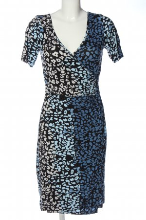 Chillytime Kurzarmkleid abstraktes Muster Casual-Look