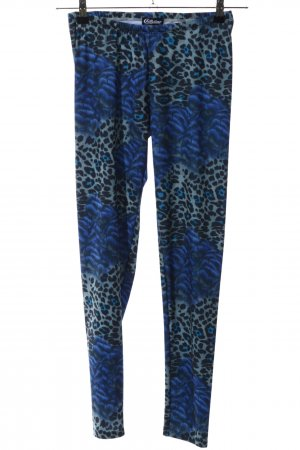 Chillytime Leggings blau-schwarz Animalmuster Casual-Look
