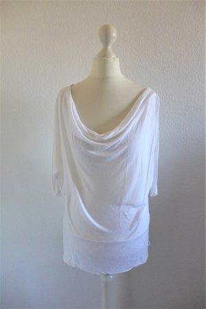 Chillytime Cowl-Neck Shirt white