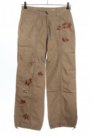 Chillytime Stoffhose braun Blumenmuster Casual-Look