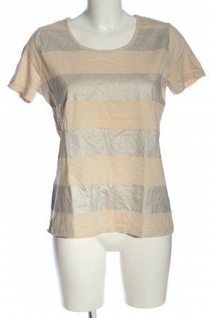 Chillytime T-Shirt cream-silver-colored striped pattern casual look