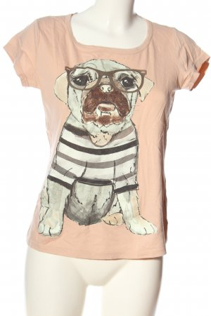 Chillytime T-Shirt nude themed print casual look