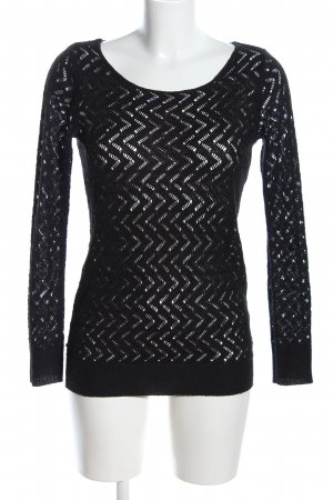 Chillytime Transparenz-Bluse schwarz Casual-Look