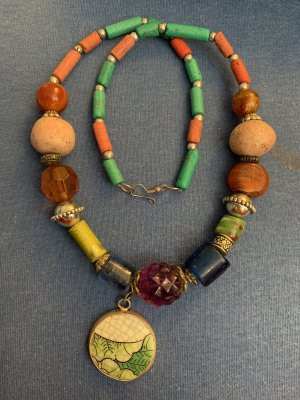 Handmade Statement Necklace multicolored