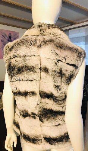 Axel Delikat Berlin Smanicato di pelliccia grigio chiaro-bianco
