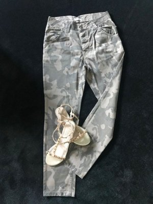 Pantalone chino grigio-verde-cachi Cotone