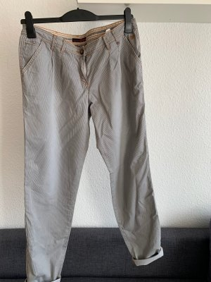 Chino, grau/schwarz gestreift, Größe 31, Tom Tailor Denim
