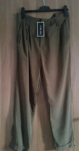Amisu Jersey Pants ocher