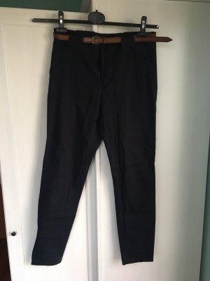 Chino-Hose dunkelblau mit Gürtel ZARA Gr. M Business-Look
