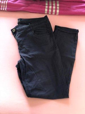 Pantalon chinos bleu foncé-noir