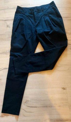 Zara Chinos dark blue mixture fibre