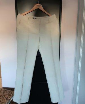 Pantalon en lin blanc cassé