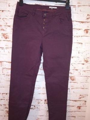 Esprit Pantalone chino marrone-rosso Cotone