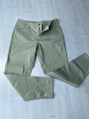 Yessica Pantalon chinos gris vert-vert clair
